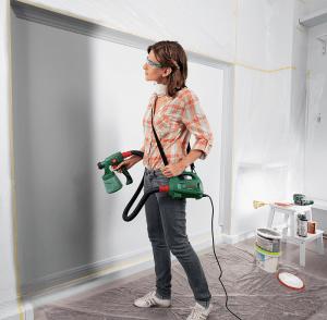 Pour vos petits travaux de peinture, le pistolet peinture Bosch PFS 1000 est idéal